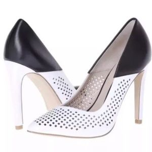 NIB French Connection Perforated Two-tone Pumps